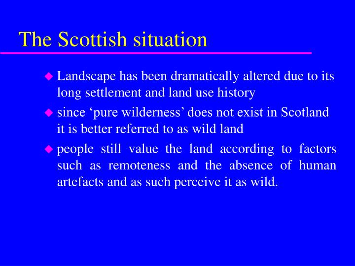 The Scottish situation