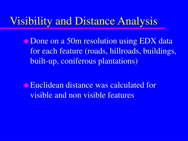 Visibility and Distance Analysis