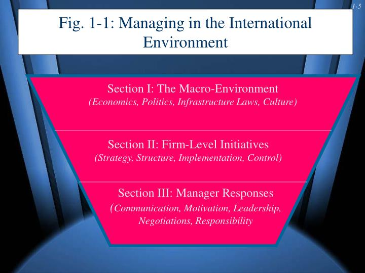 Fig. 1-1: Managing in the International Environment