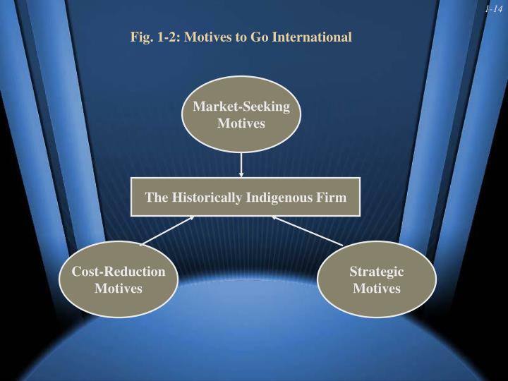 Fig. 1-2: Motives to Go International