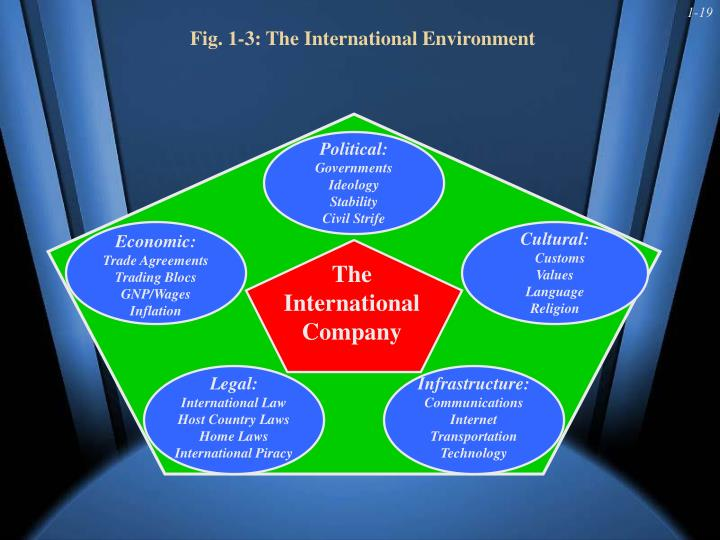 Fig. 1-3: The International Environment