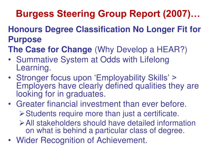 Burgess Steering Group Report (2007)…