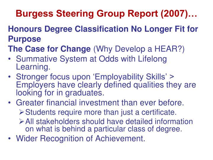 Burgess Steering Group Report (2007)…