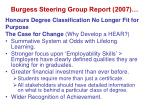 burgess steering group report 2007