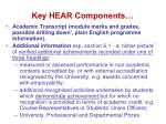 key hear components