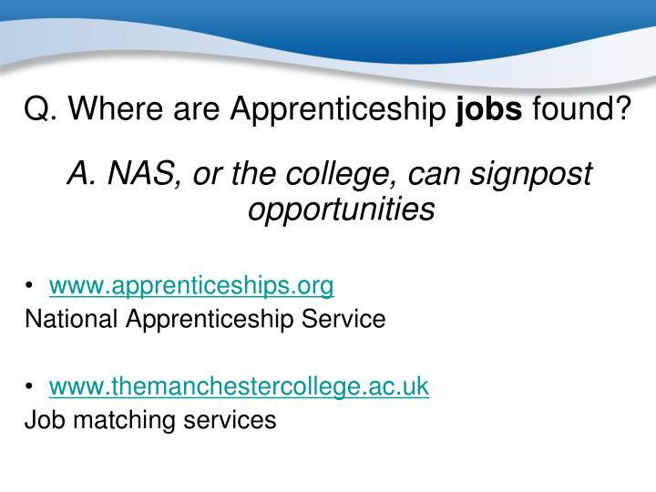 Q. Where are Apprenticeship