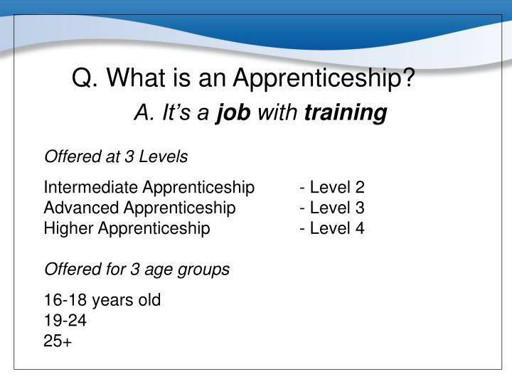 Q. What is an Apprenticeship?