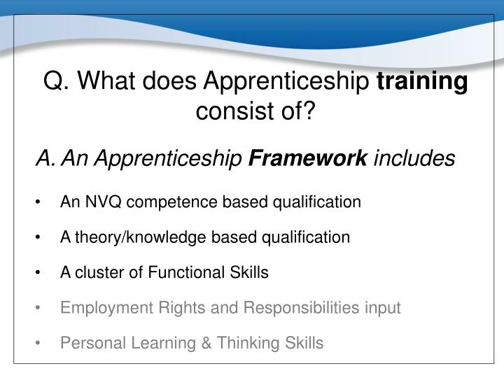 Q. What does Apprenticeship