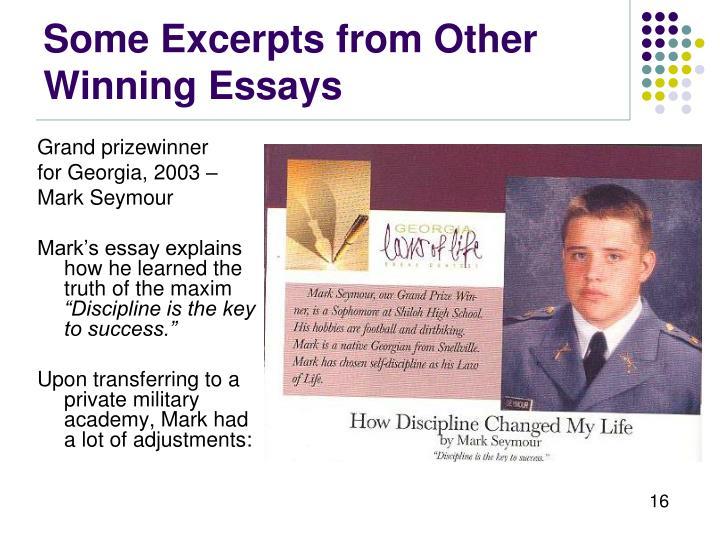 georgia laws of life winning essays Georgia laws of life anna libby riordan state winner - 9th grade, alpharetta high school, alpharetta georgia law .