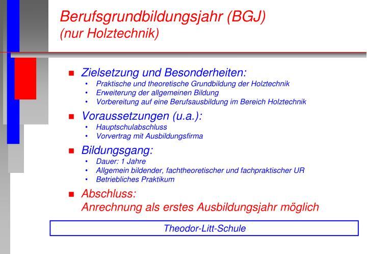 Zielsetzung und Besonderheiten:
