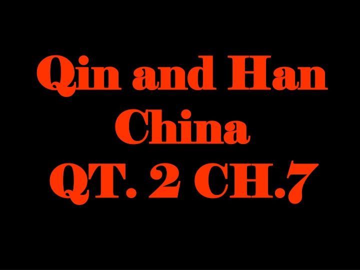 Qin and Han China