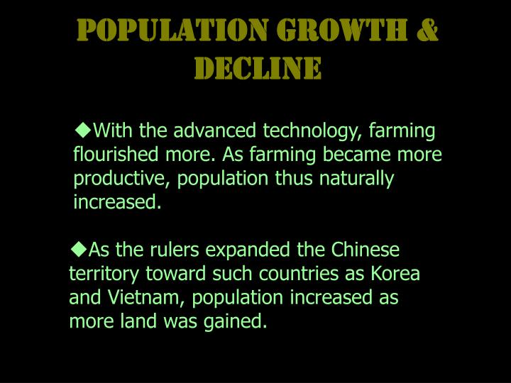 Population Growth & Decline