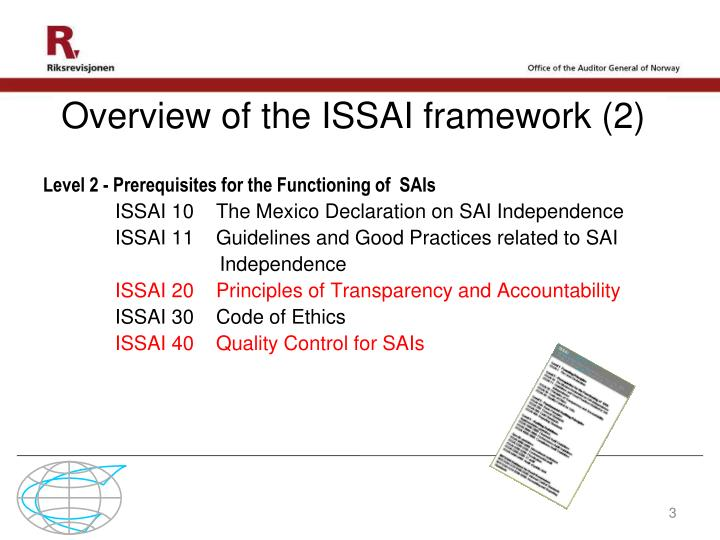 Overview of the issai framework 2