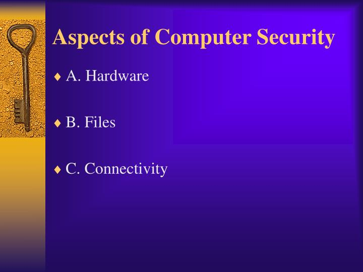 Aspects of computer security