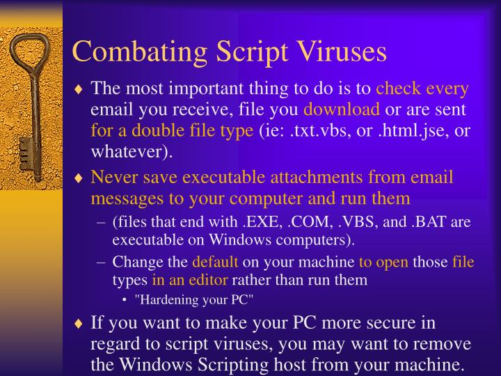 Combating Script Viruses