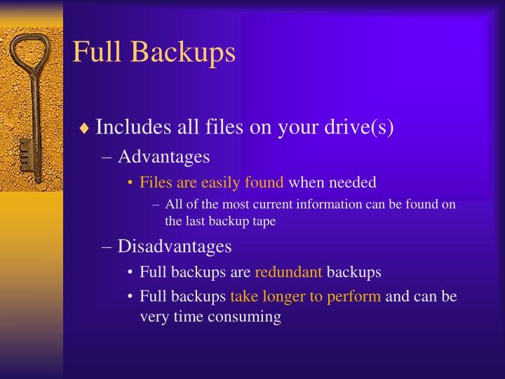 Full Backups