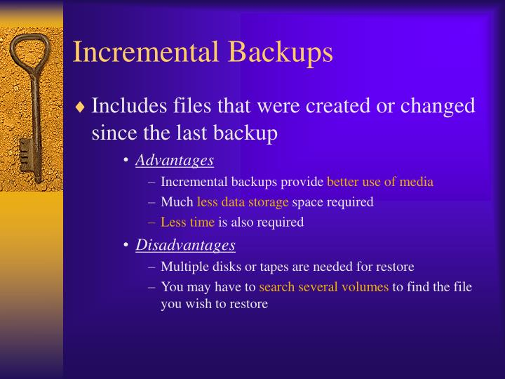 Incremental Backups