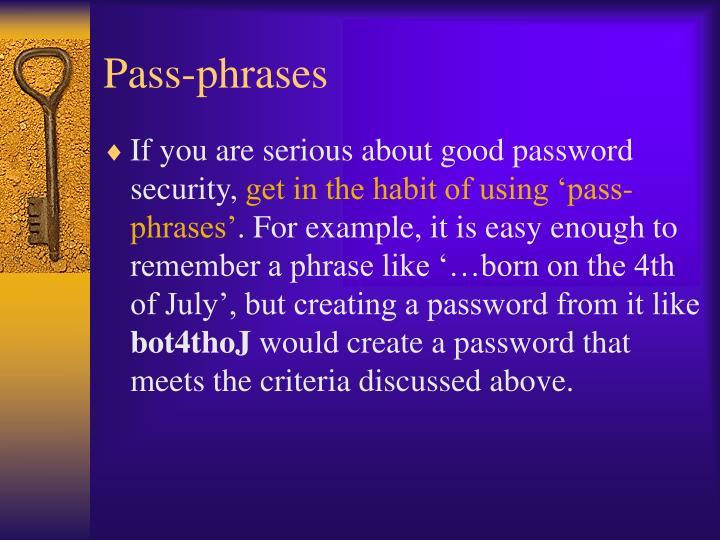 Pass-phrases