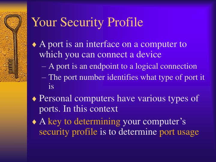 Your Security Profile