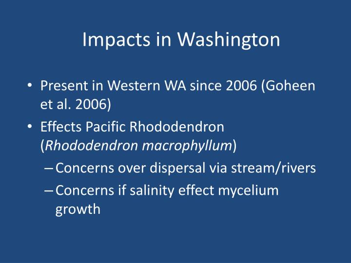 Impacts in Washington