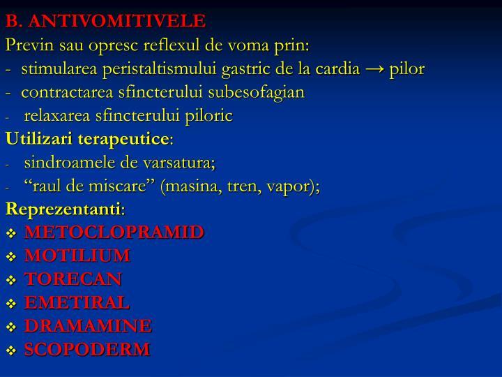 B. ANTIVOMITIVELE