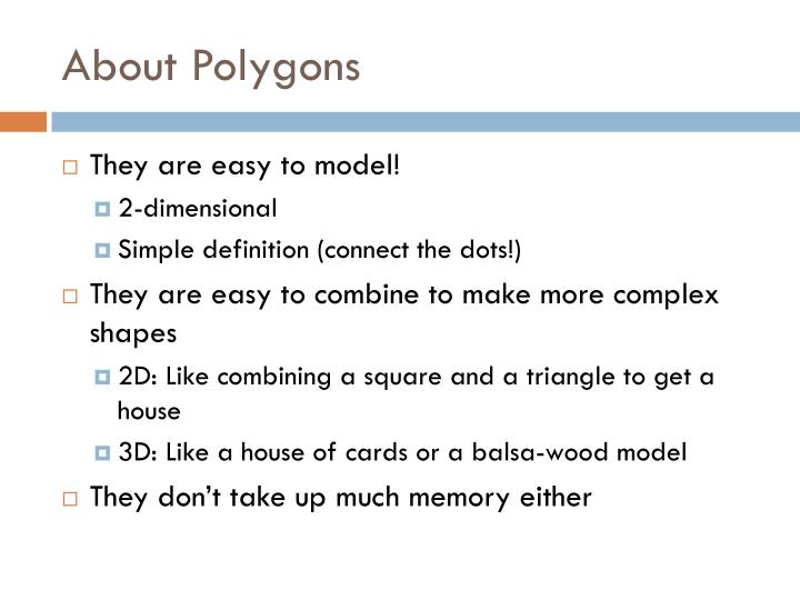 About Polygons