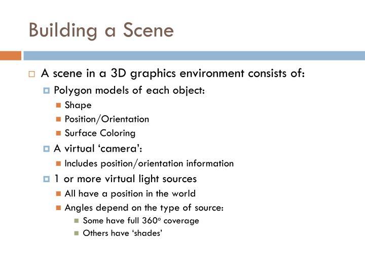Building a Scene