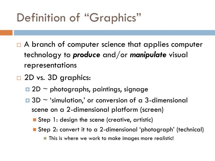 "Definition of ""Graphics"""