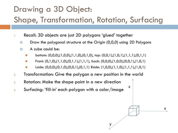 Drawing a 3D Object: