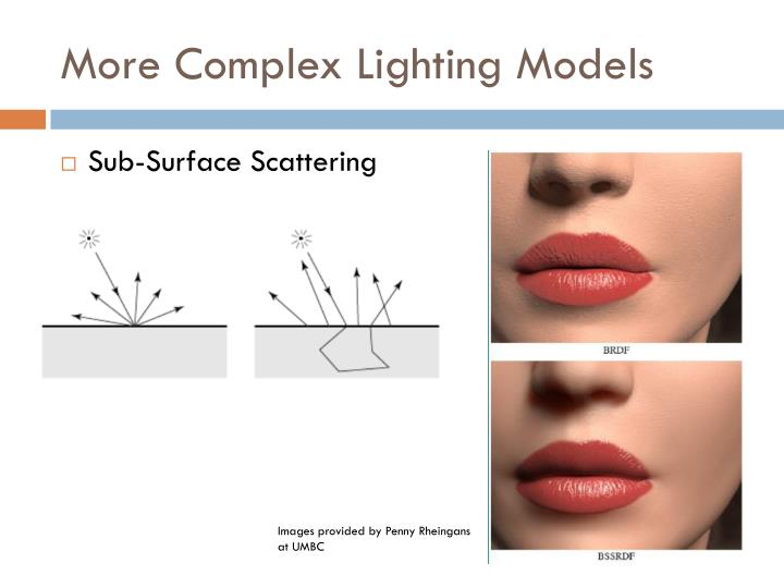 More Complex Lighting Models
