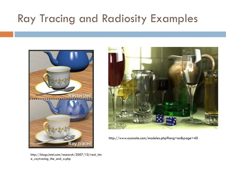 Ray Tracing and