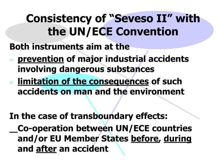 """Consistency of """"Seveso II"""" with the UN/ECE Convention"""