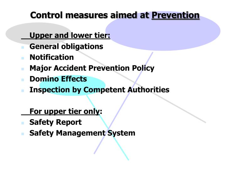 Control measures aimed at