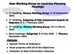 new working group on land use planning meetings