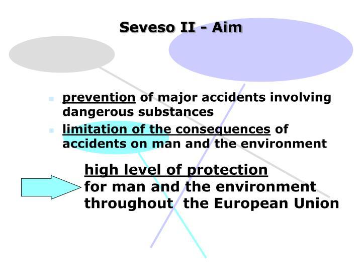 Seveso II - Aim