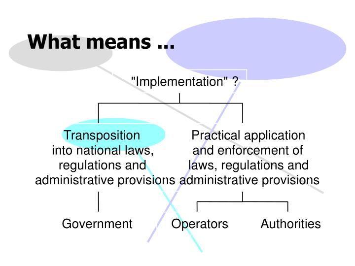 """Implementation"" ?"