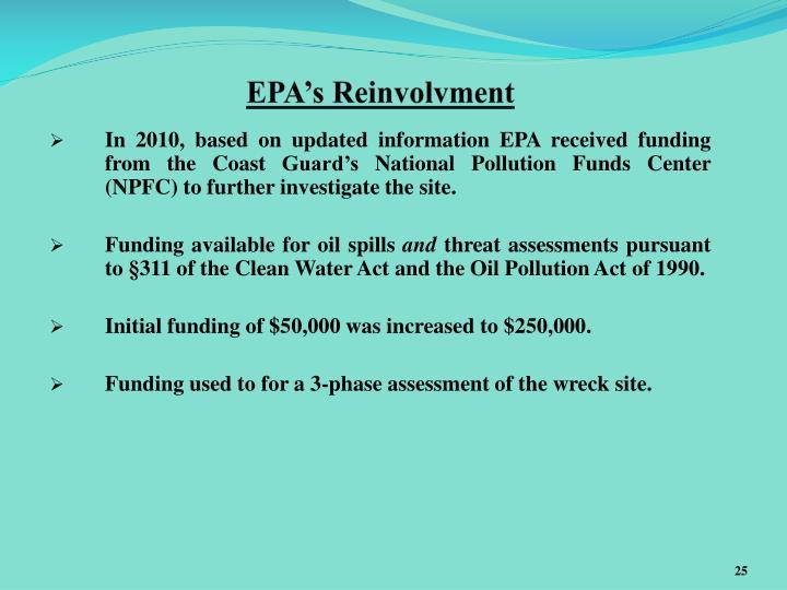 EPA's Reinvolvment