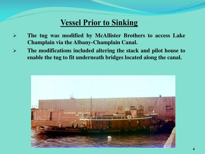 Vessel Prior to Sinking