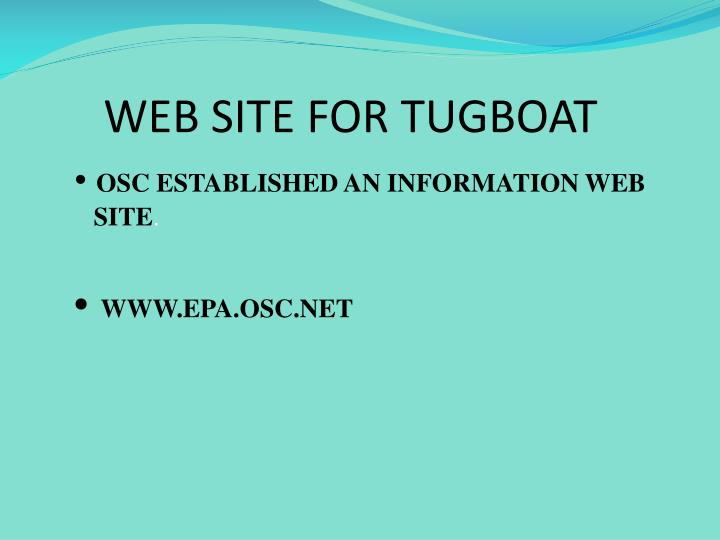 WEB SITE FOR TUGBOAT