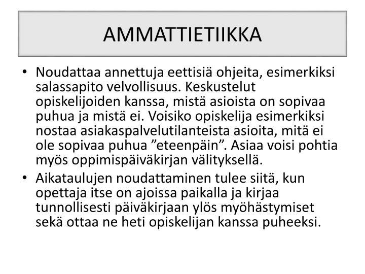 AMMATTIETIIKKA
