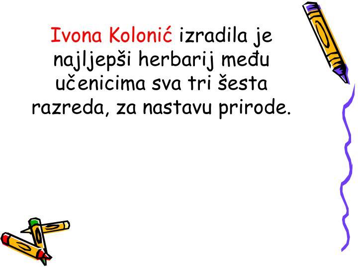 Ivona Kolonić