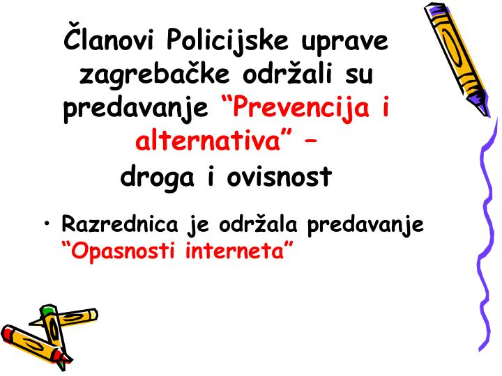 Članovi Policijske uprave zagrebačke održali su predavanje