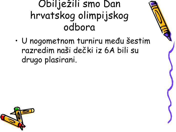 Obilježili smo Dan hrvatskog olimpijskog odbora