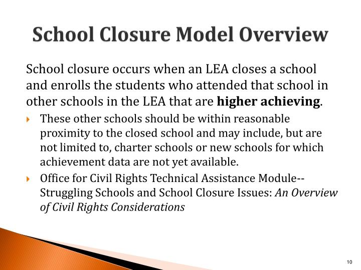 School Closure Model Overview