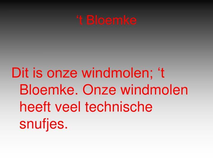 't Bloemke