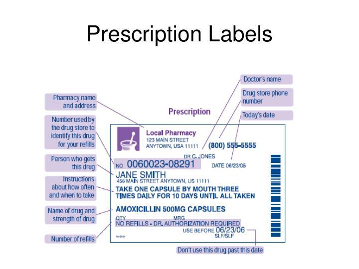 Prescription Labels