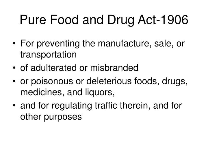 Pure Food and Drug Act-1906