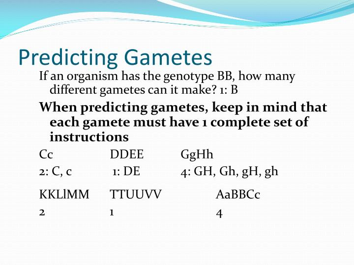 Predicting Gametes