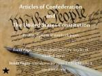 articles of confederation and the united states constitution1