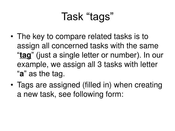 """Task """"tags"""""""